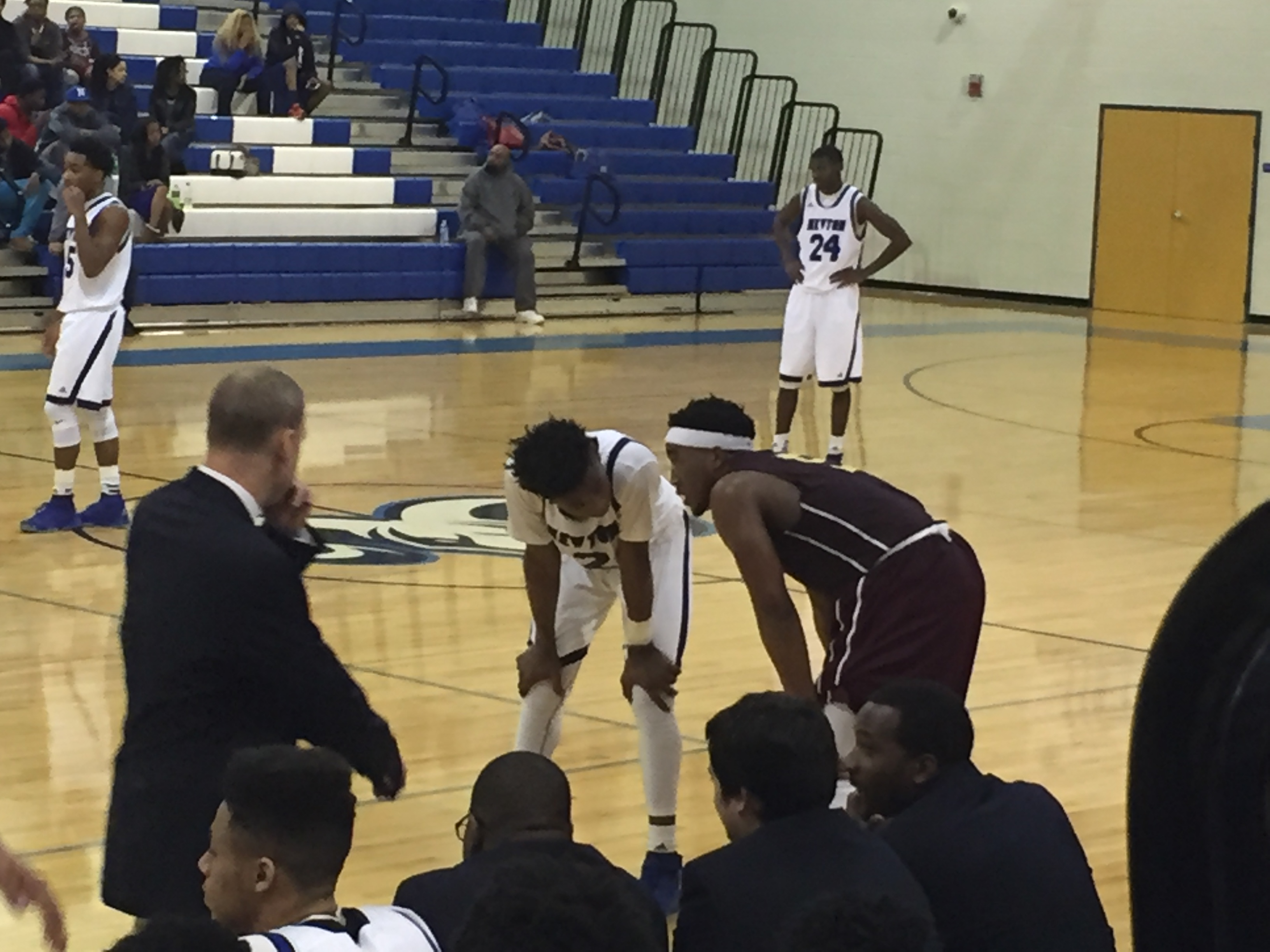 Freshman Ashton Hagans won the war with junior Kenton Eskridge