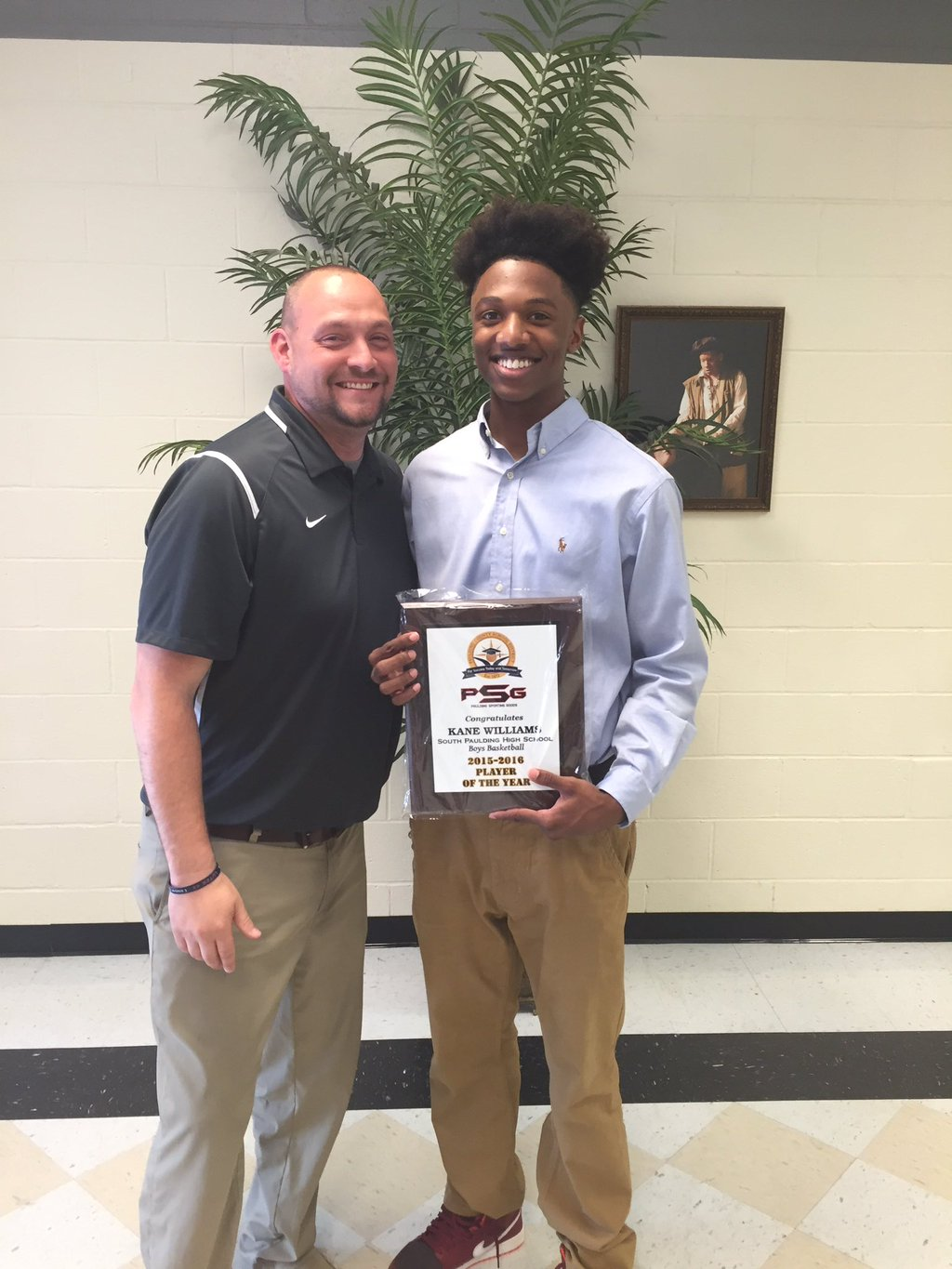Kane Williams honored as County Player of the Year
