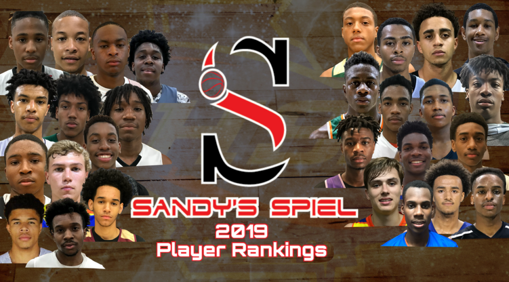 Sandy's Spiel 2019 Player Rankings