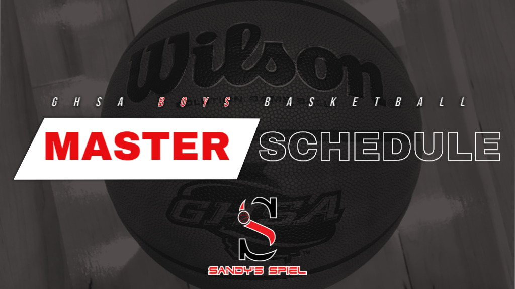 GHSA Boys Basketball Master Region Schedule