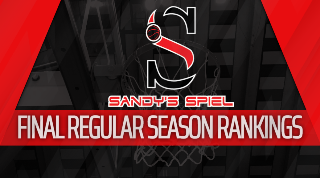 2019-20 GHSA Final Regular Season Boys Basketball State Rankings
