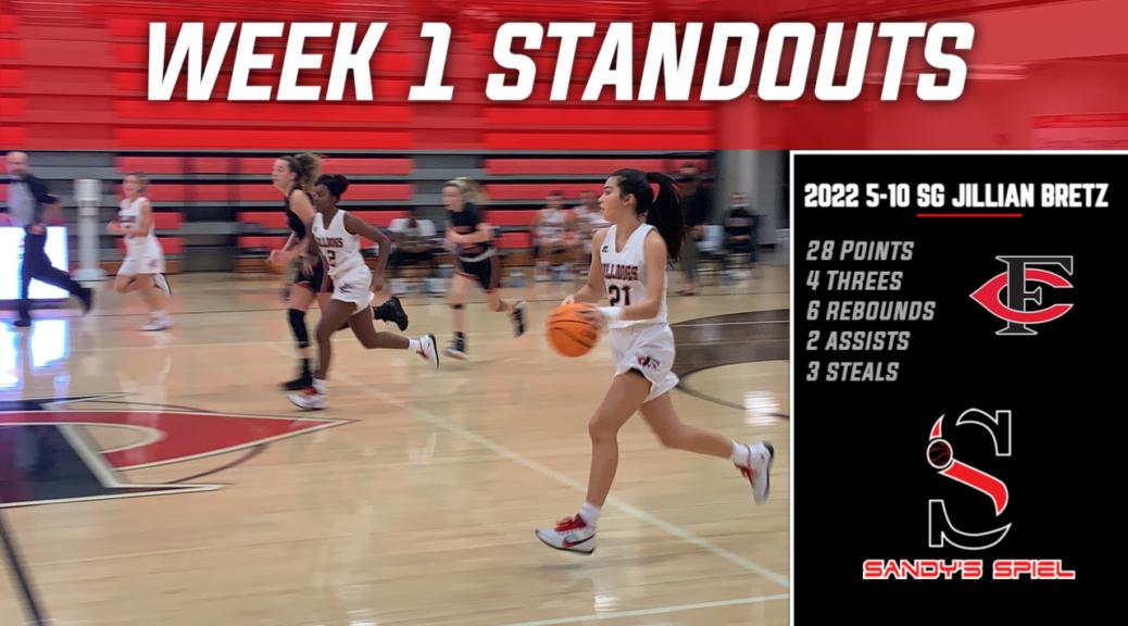 Week 1 Standouts