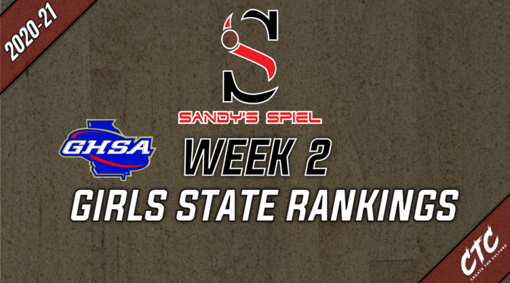 Week 2 GHSA Girls Basketball State Rankings