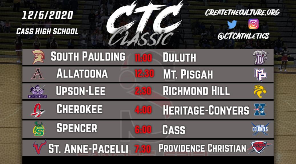 CTC Classic Schedule