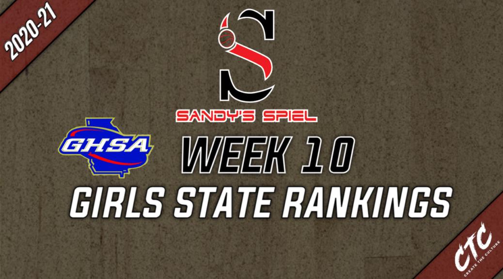 Week 10 GHSA Girls Basketball State Rankings