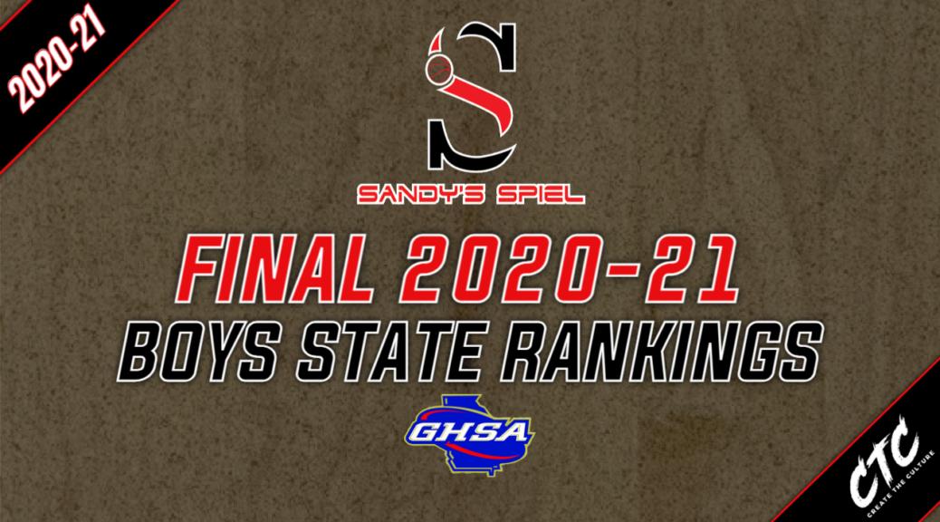 Final 2020-21 GHSA Boys Basketball State Rankings