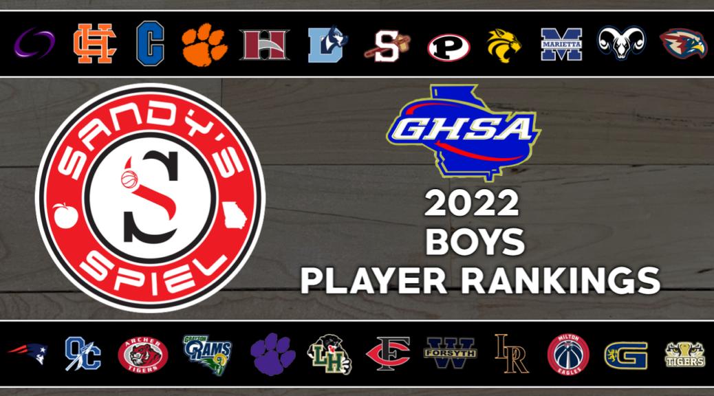 2022 GHSA Boys Basketball Player Rankings